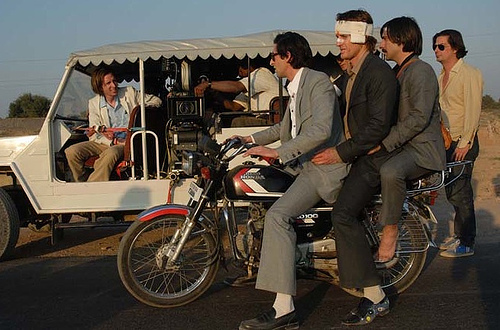 Anderson (in truck), Coppola (on foot) and cast @ work!
