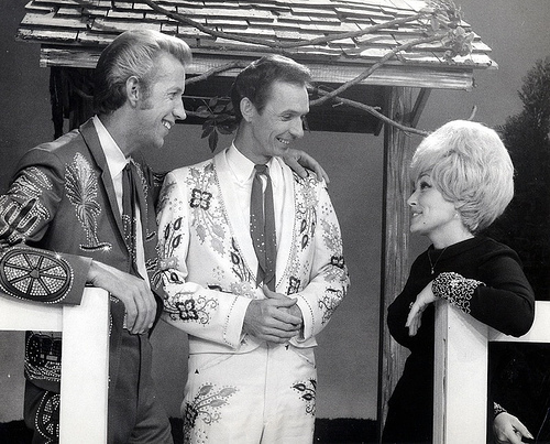 Porter, Mel Tillis & Dolly on the set of The Porter Wagoner Show!