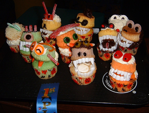 First place cupcakes @ the LAPL Halloween Party!