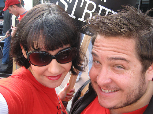 Nina & I @ the Hollywood Solidaritary Rally (Nov. 20, 2007)
