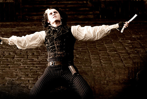 "Johnny Depp singing in ""Sweeney Todd"" (Dec. 19, 2007)"