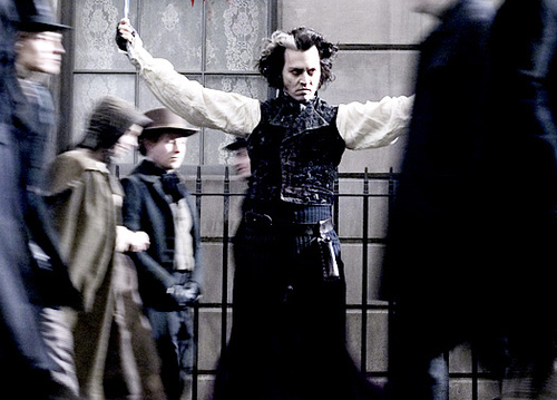 "Johnny Depp as ""Sweeney Todd"" (Dec. 19, 2007)"