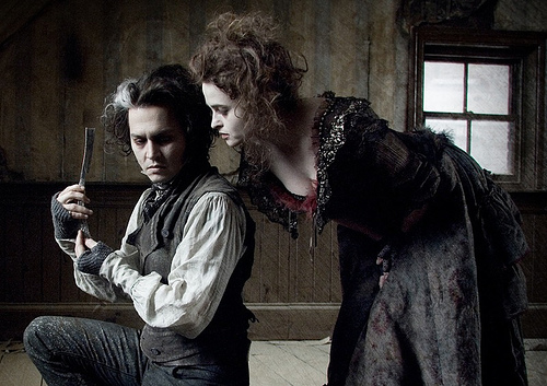 "Johnny Depp & Helena Bonham Carter in ""Sweeney Todd"" (Dec. 19, 2007)"