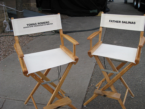 Tomas Romero's NOT FORGOTTEN director's chair