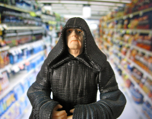 Emperor Palpatine shopping at Vons #1