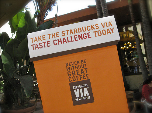 Starbucks Via Taste Test Challenge #3